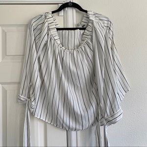 Forever 21 black and white long sleeve top